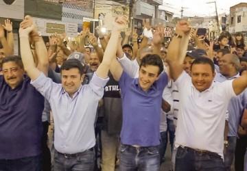 Eduardo da Fonte e Joaquim Neto parabenizam vereador Leo do Ar por vitória na eleição da presidência da UVP