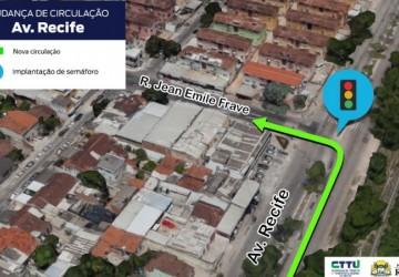 CTTU facilita acesso à Rua Jean Emile Favre pela Avenida Recife