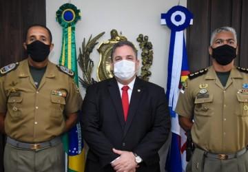 Eriberto Medeiros recebe novo comandante da PMPE e debate prioridades da corporação