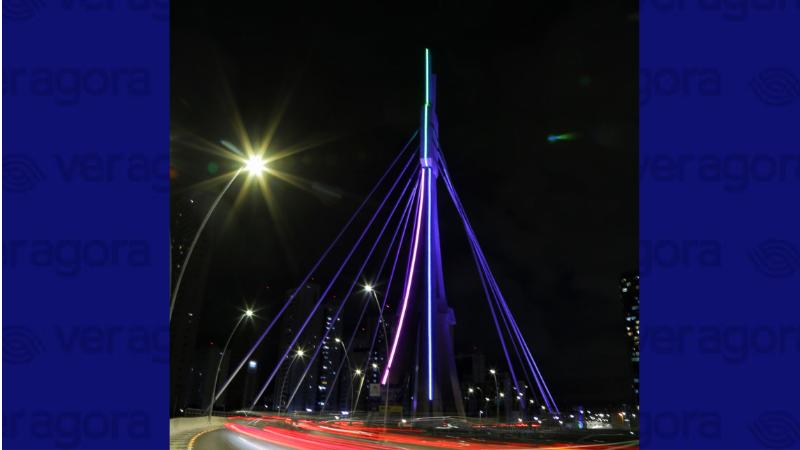 Além da iluminação cênica especial na Ponte Estaiada da Via Mangue, ações incluem ainda Webinário para rede de saúde municipal, que será realizado no dia 26 (sexta-feira)