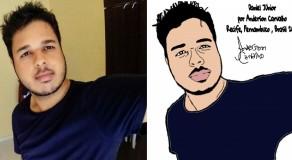 Artista de PE faz caricatura idêntica ao rosto original