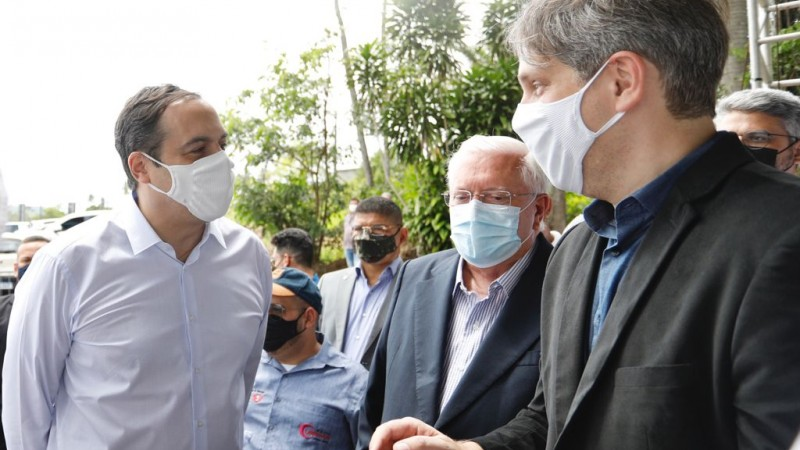 Governador Paulo Câmara participou do lançamento da pedra fundamental do novo empreendimento, instalado no município de Igarassu, na RMR