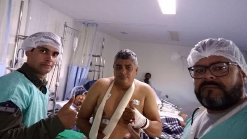 Sargento Moacir Moreira, 47 anos, não resistiu e faleceu às 10h30 desta sexta