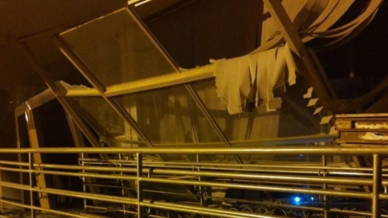 A explosão na agência também atingiu o prédio da prefeitura que funciona no mesmo terreno.